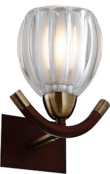 Фото товара 407-01-51ABWBB antique brass + walnut N-Light