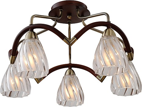 Фото товара 407-05-53ABW antique brass + walnut N-Light