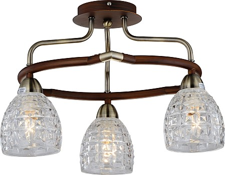 Фото товара 412-03-53ABW antique brass + walnut N-Light