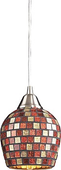 Фото товара 528-1MLT Satin Nickel / Multi Color N-Light 570