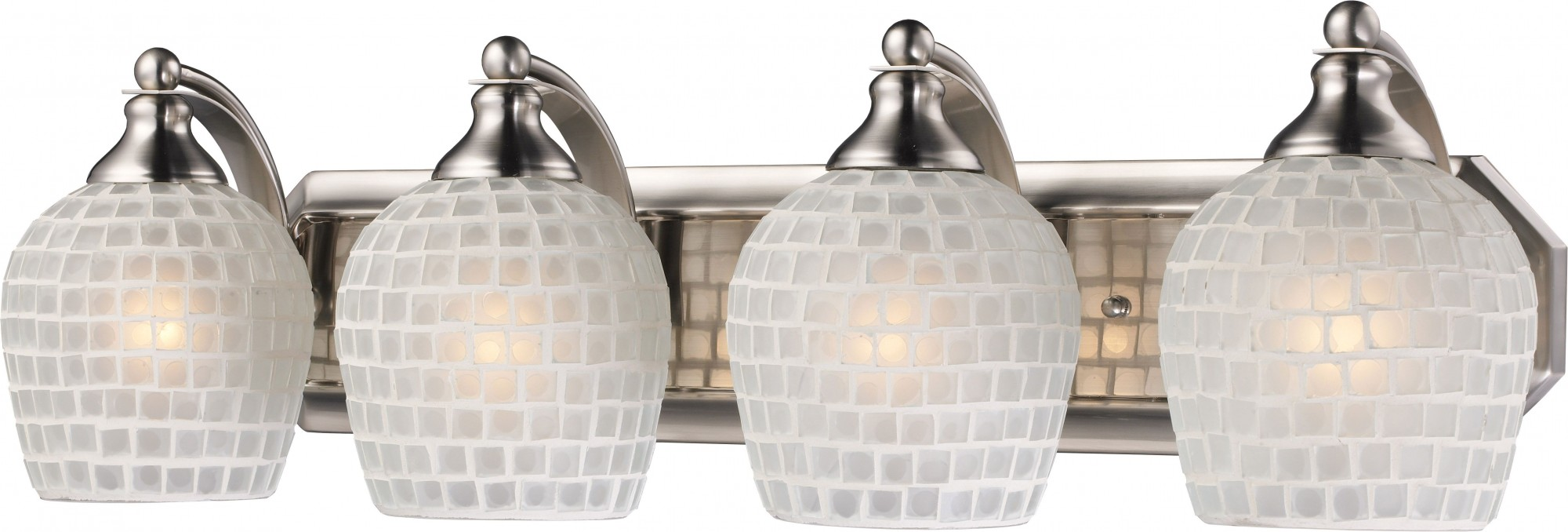 Фото товара 570-4N-WHT Satin Nickel / White N-Light