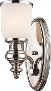 Фото товара 714-01-11CH Polished Nickel   with White Glass N-Light