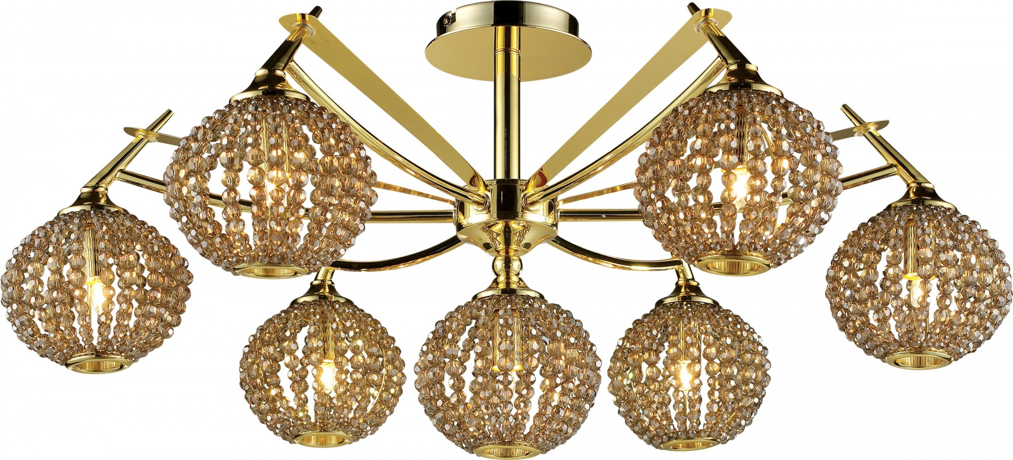 Фото товара 917-07-33 gold + brown crystal N-Light
