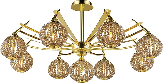 Фото товара 917-09-33 gold + brown crystal N-Light