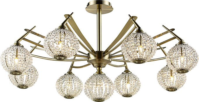 Фото товара 917-09-53 antique brass + white crystal N-Light